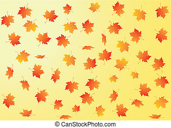 outono, vetorial, fundo