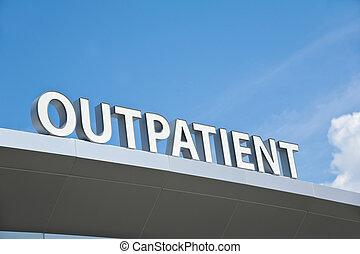Outpatient Sign - Hospital Outpatient Surgery Center Sign