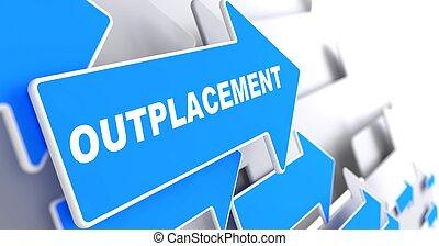 outplacement., achtergrond., zakelijk