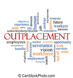 Outplacement Word Cloud Concept with great terms such as...