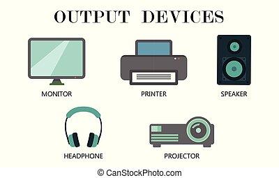 Output Devices icon set