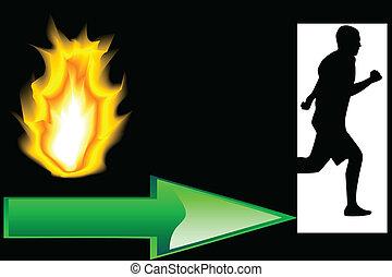 Output Fire - Evacuation