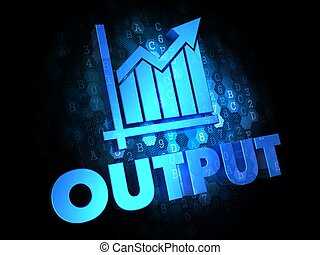 Output with Growth Chart - Blue Color Text on Dark Digital Background.