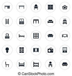 outro, vetorial, berço, planta, icons., synonyms, elementos...