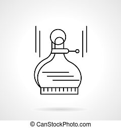 Outside calipers flat thin line vector icon - Tools and...