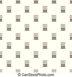 Outside house pattern seamless vector