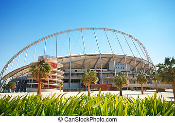 Outside Khalifa stadium - Outside Khalifa sports stadium in ...