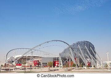 Outside Khalifa stadium - Outside Khalifa sports stadium in...