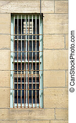 Outside of a jail cell building