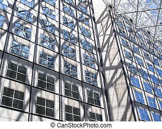 Outside of a modern office buidling - Abstract glass and ...