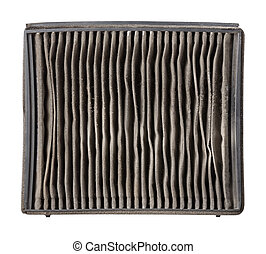 Outside of dirty air filter - Close up outside of dirty car...