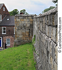 Outside of York wall