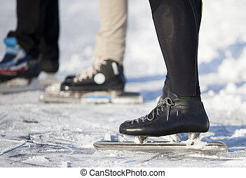 outside skating in teh winter