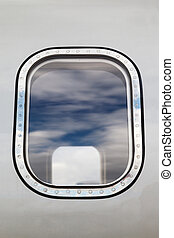outside the window of the plane