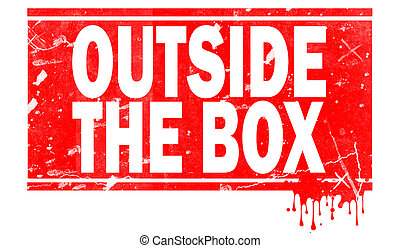 Outside the box in red frame