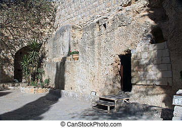 Outside the Tomb of Jesus In Jerusa