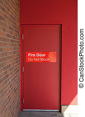 Outside View of a Fire Door