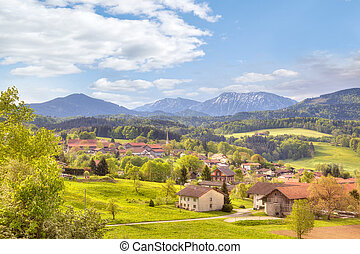 outskirts, közül, város, salzburg