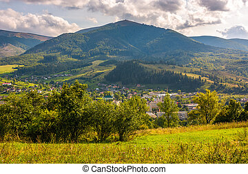outskirts of Carpathian town Volovets. lovely countryside...