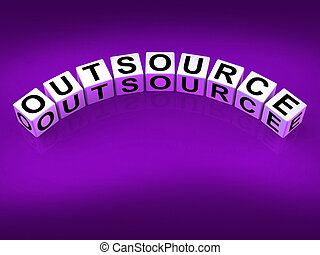 Outsource Blocks Show Outsourcing and Contracting Employment