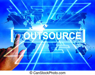 Outsource Map Displays Worldwide Subcontracting or...