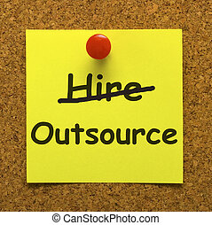 Outsource Note Showing Subcontracting Suppliers And...