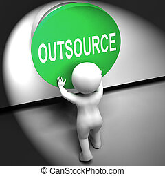 Outsource Pressed Means Freelancer Or Independent Worker -...