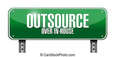 outsource road sign illustration design