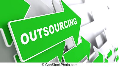 outsourcing., achtergrond., zakelijk