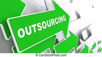 outsourcing., arrière-plan., business