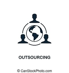 Outsourcing icon. Creative element design from business strategy icons collection. Pixel perfect Outsourcing icon for web design, apps, software, print usage