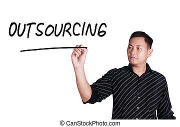 Outsourcing, Motivational Words Quotes Concept