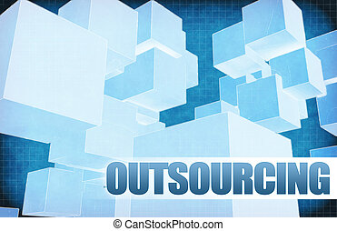 Outsourcing on Futuristic Abstract