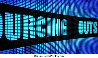 Outsourcing Side Text Scrolling LED Wall Pannel Display Sign...