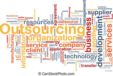 Outsourcing word cloud - Word cloud concept illustration of ...