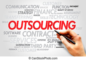 Outsourcing Word cloud business concept