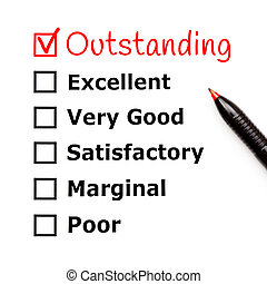 Outstanding Customer Service Evaluation Form
