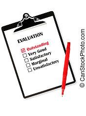 Outstanding Evaluation - Outstanding evaluation on...