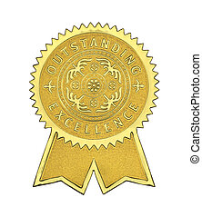 Outstanding Excellence Seal - Gold Excellence Seal With ...