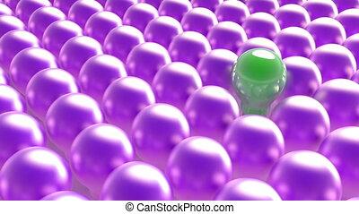 outstanding light bulb among purple lamps Creative idea pop and dance mood 4k