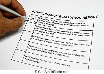 Outstanding Performance - Performance Evaluation form with...