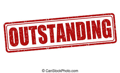 Outstanding stamp - Outstanding grunge rubber stamp on white...
