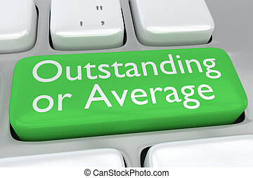 Outstanding/Average concept - Render illustration of...