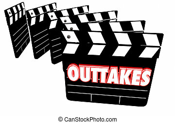 Outtakes Mistakes Bloopers Movie Film Video Clapper Boards ...