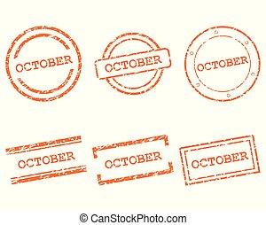 outubro, selos