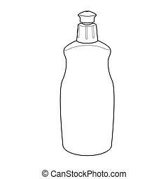 outvector, dishwashing flüssigkeit, flasche
