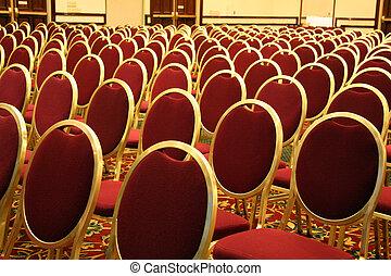 ouvert, allocation places, à, une, auditorium
