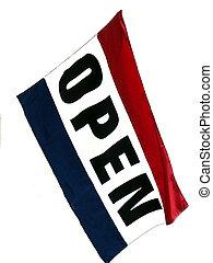 ouvert, drapeau