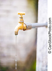 Robinet eau ouvert photographie de stock rechercher for Job depuis chez soi