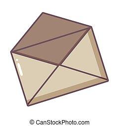 ouvert, enveloppe, courrier